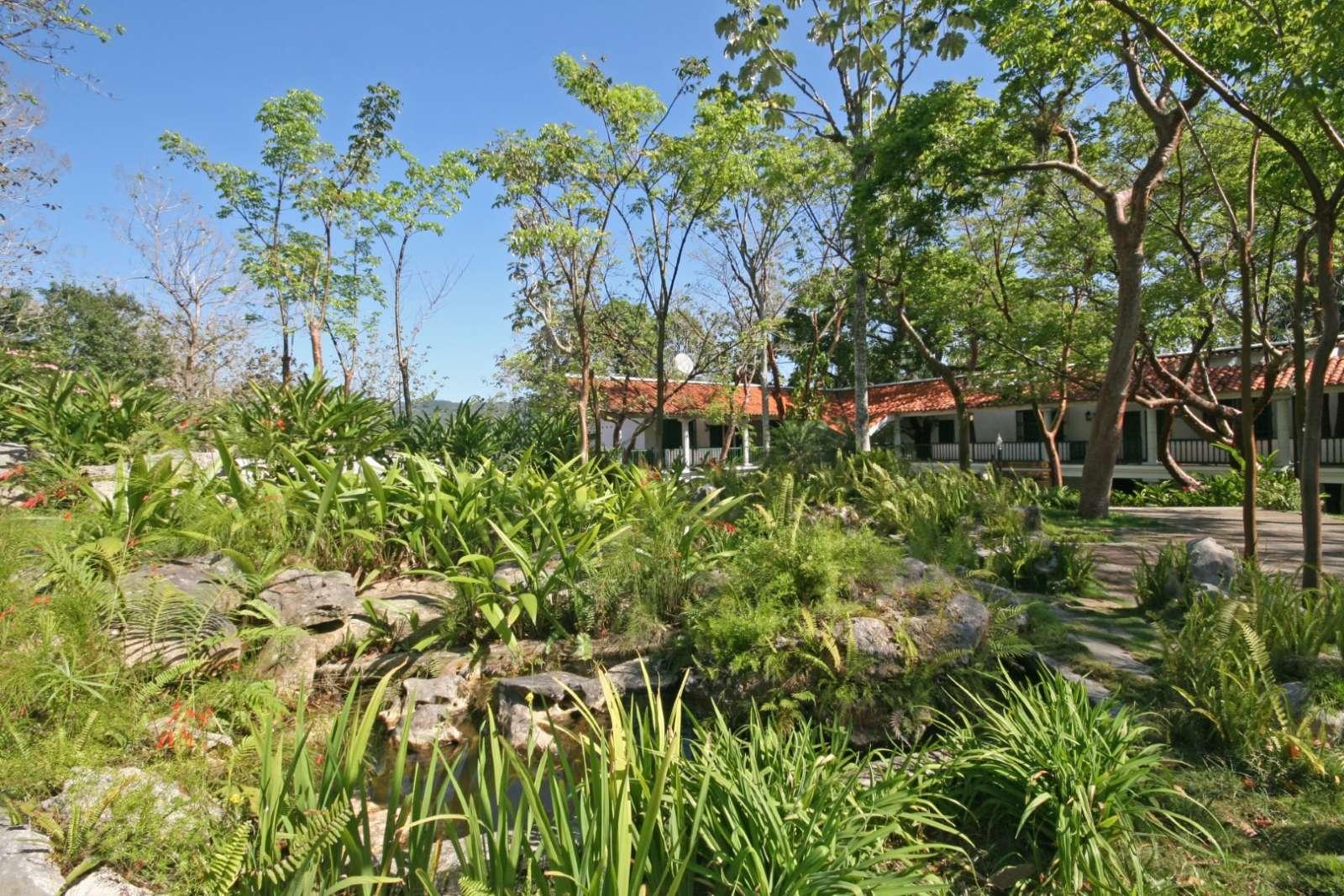 Rock garden at La Moka hotel in Las Terrazas, Cuba