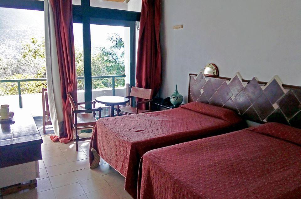 Bedroom at La Moka hotel in Las Terrazas, Cuba