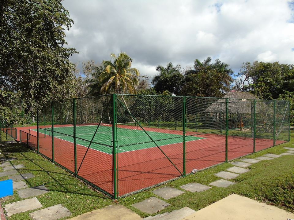 Tennis court at La Moka hotel in Cuba