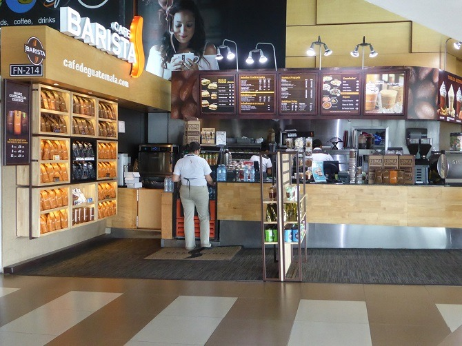 A coffee shop at La Aurora International Airport, Guatemala City