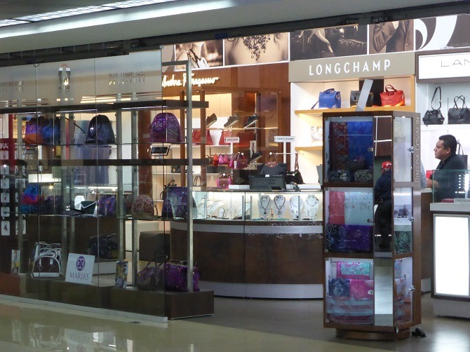 Luxury shopping at La Aurora International Airport, Guatemala City