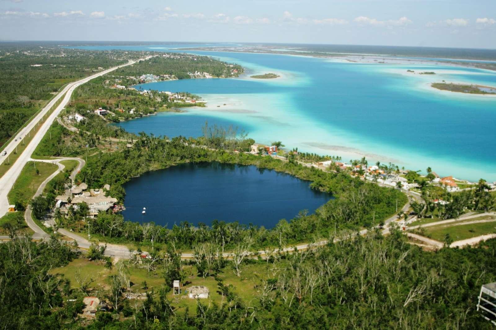 Cenote Azul next to Laguna Bacalar