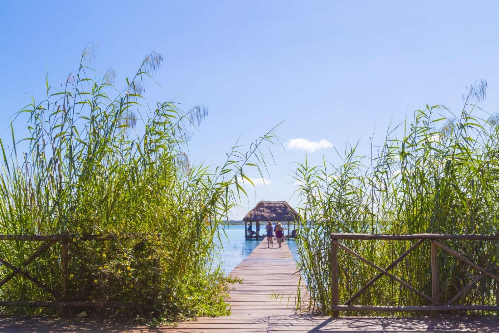 Jetty on Laguna Bacalar