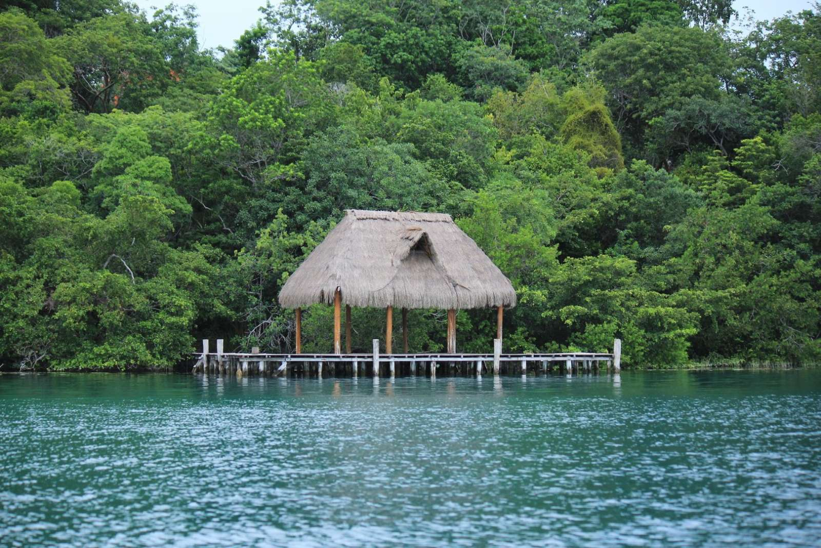 Lakefront palapa on Laguna Bacalar