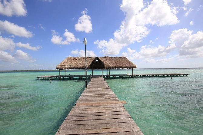 Laguna Bacalar is a popular fly drive stop-off