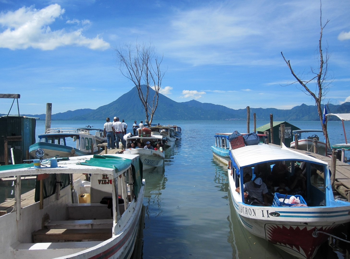 Taxi boats on Lake Atitlan, Guatemala