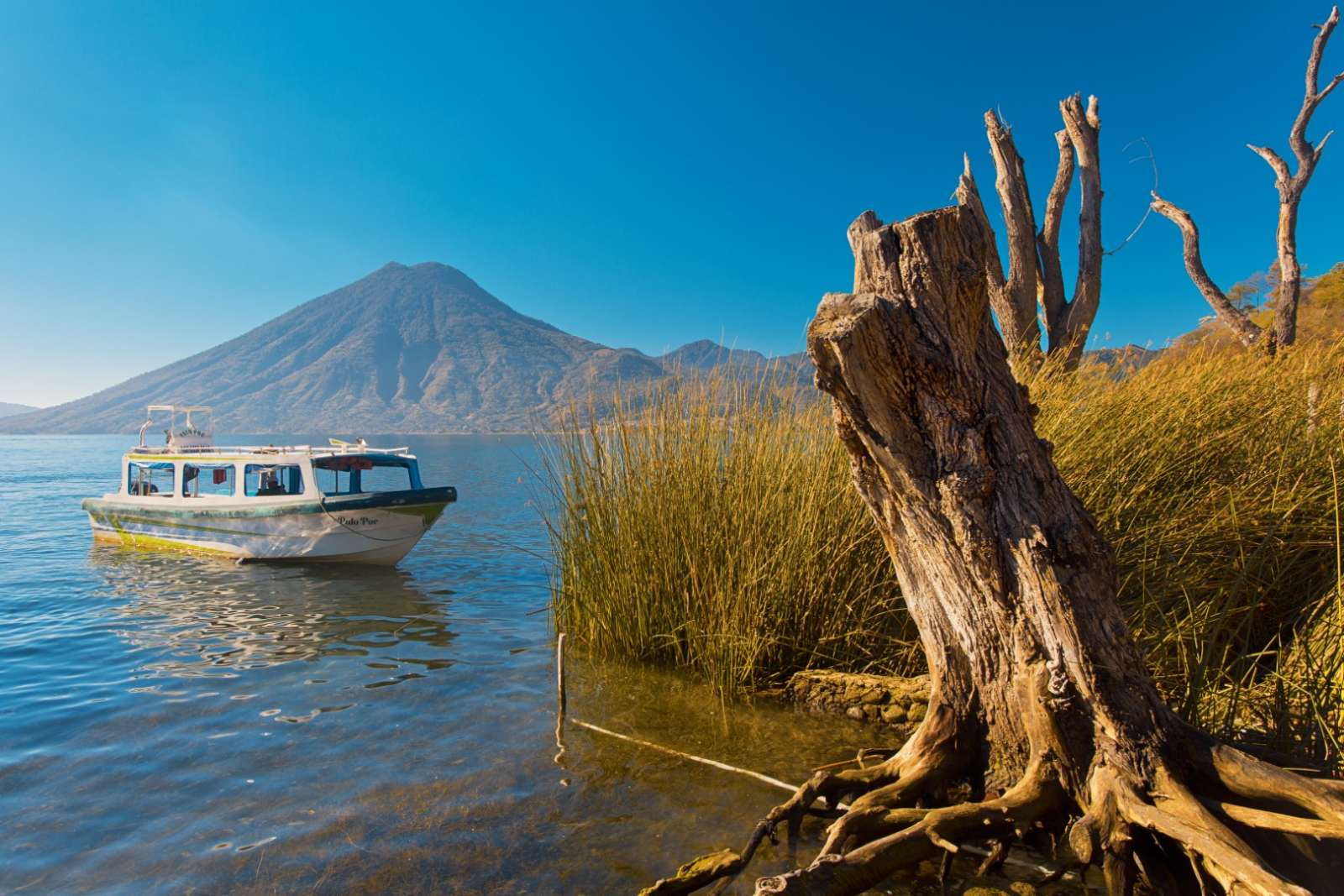 Water taxi on Lake Atitlan, Guatemala