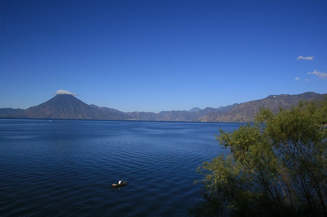 Lake Atitlan is en-route from Flores to Guatemala City