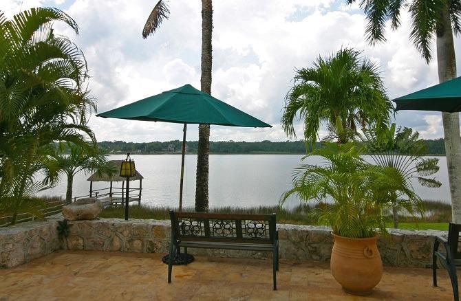 Lake Coba is next to the Mayan city ruins