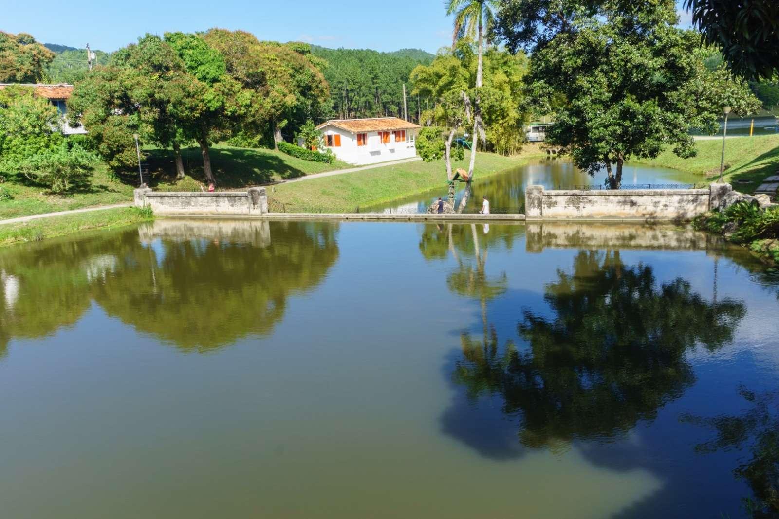 System of lakes at Las Terrazas, Cuba