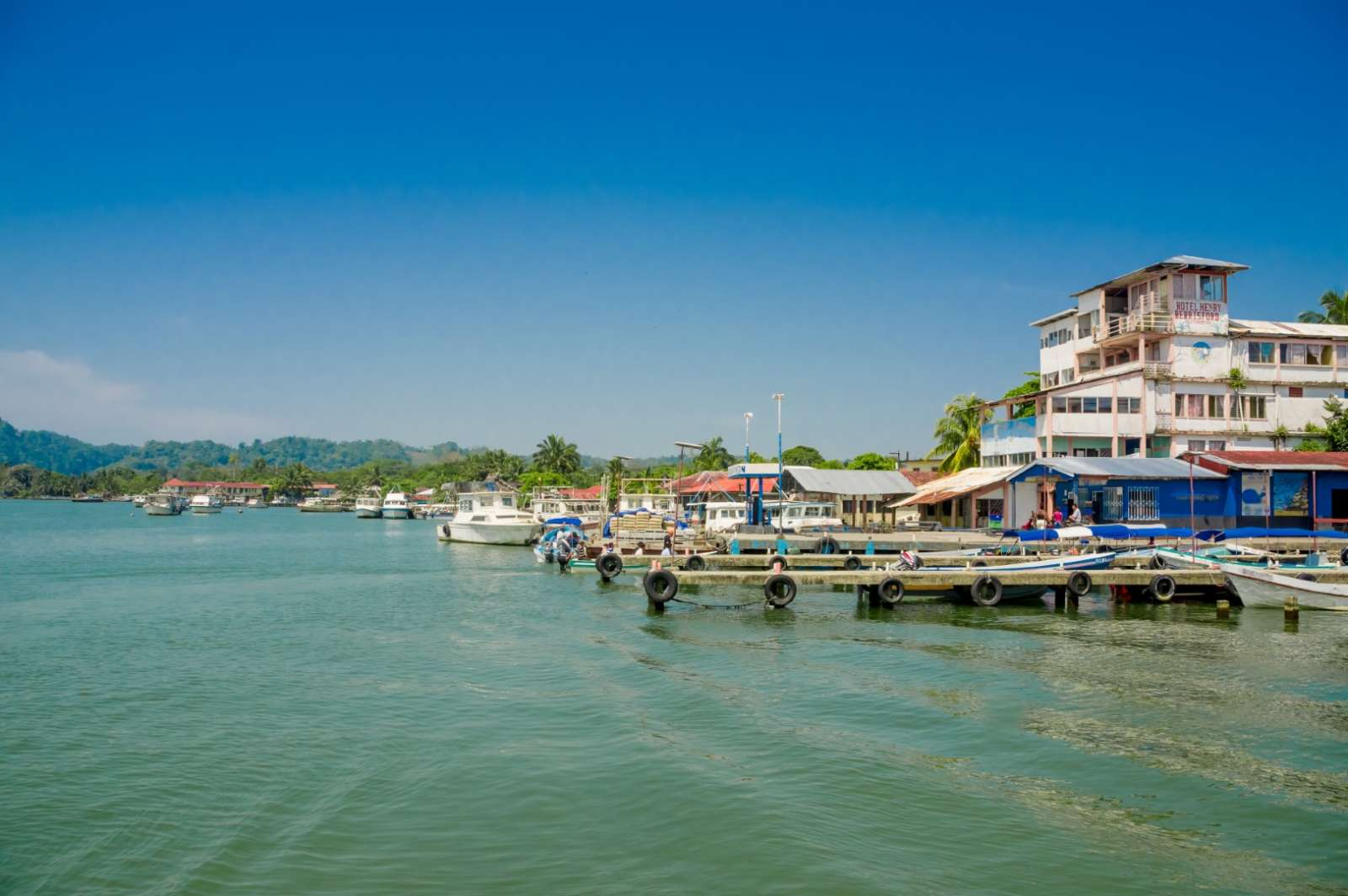 Harbour at Livingston, Guatemala