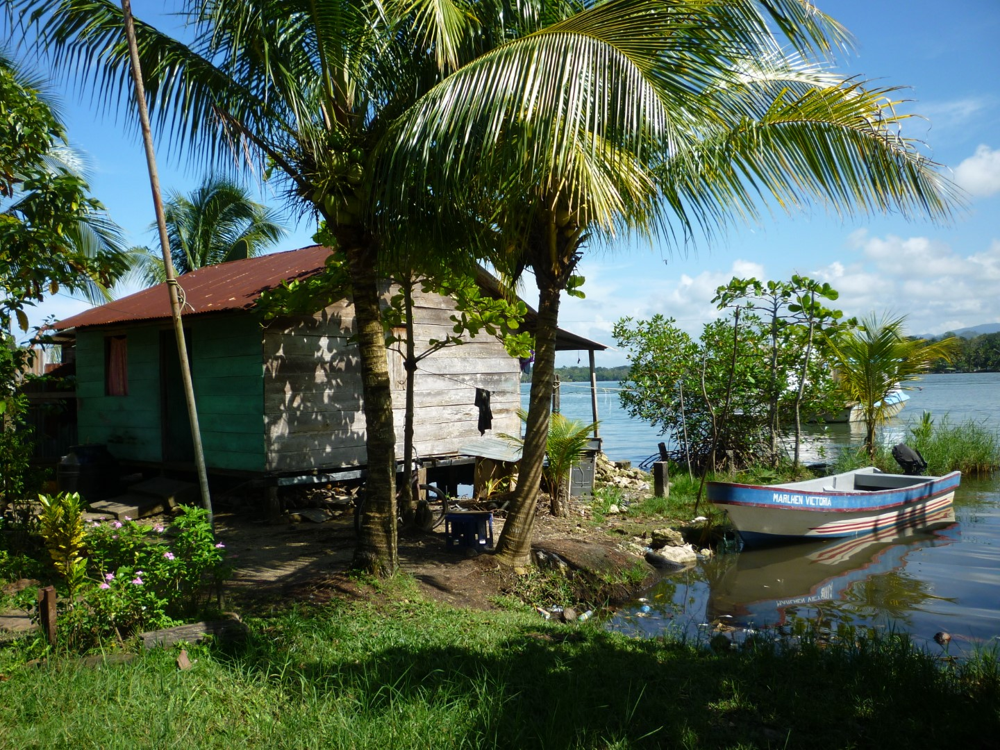 House by sea in Livingston, Guatemala
