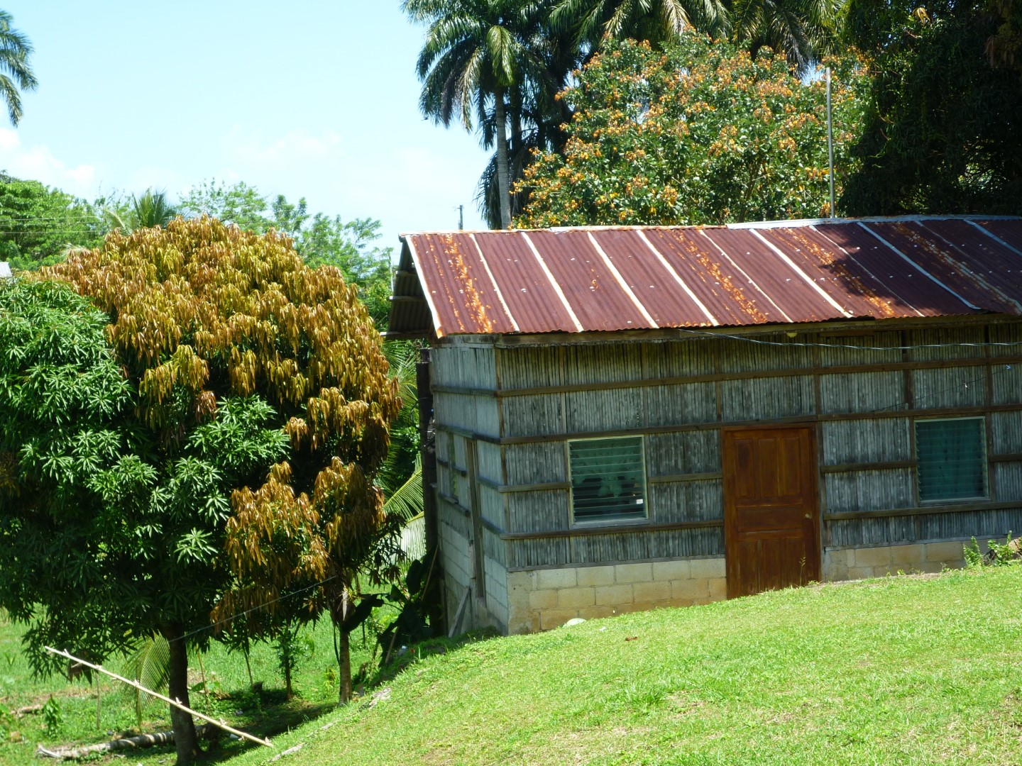 Old wooden house in Livingston, Guatemala
