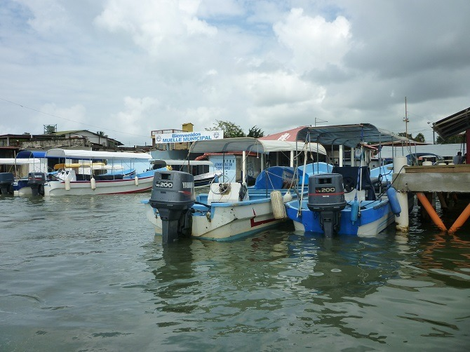 The dock at Puerto Barrios