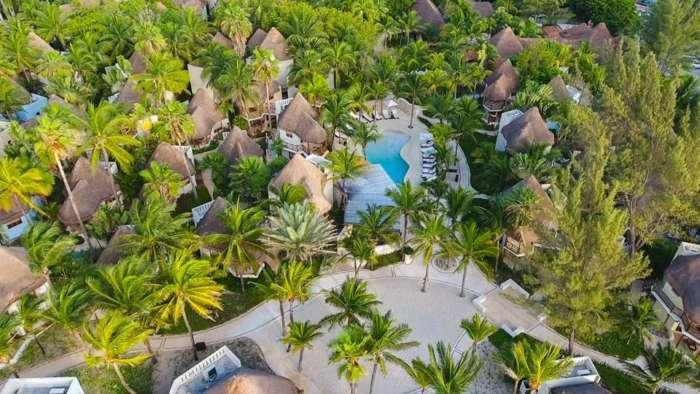 Aerial view of Mahekal Beach Resort