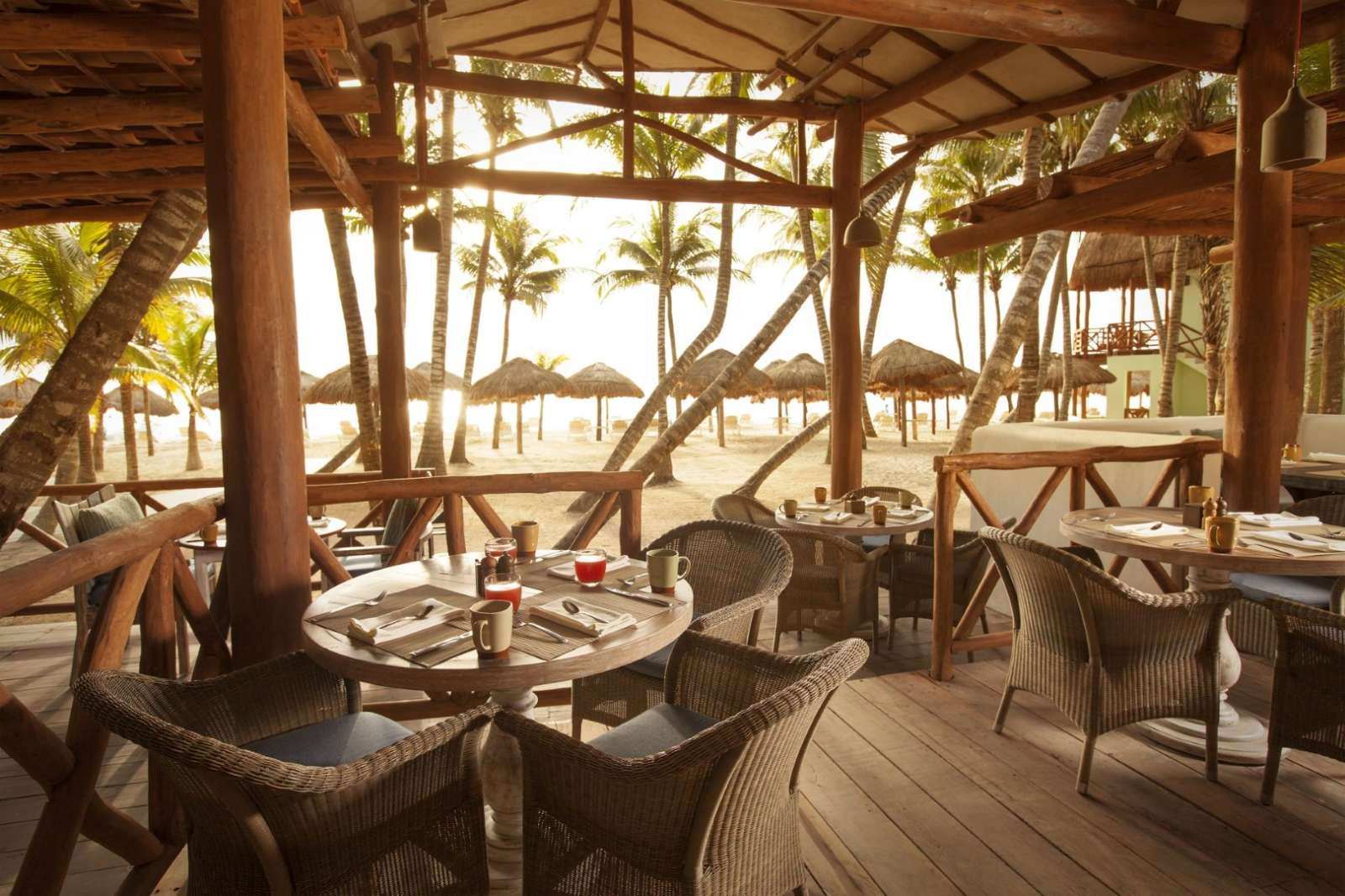 Beach restaurant at Mahekal Beach Resort