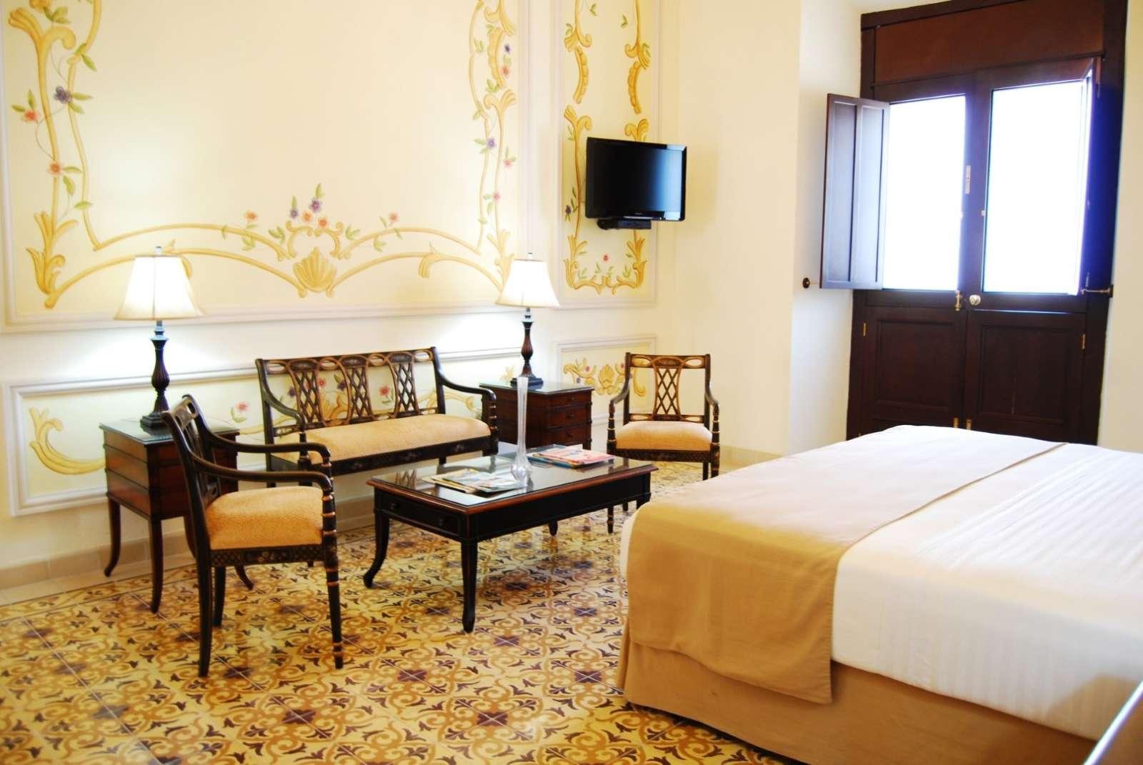 Bedroom at hotel Mansion Merida