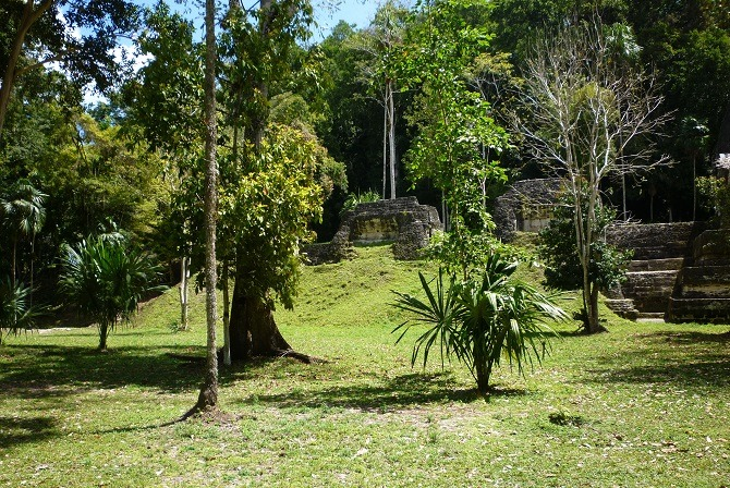 Maya ruins at Yaxha in Guatemala