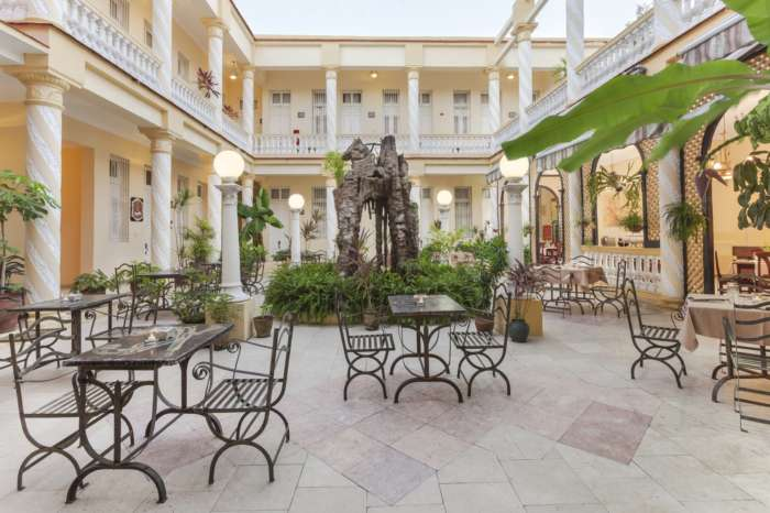 Courtyard of Melia Colon in Camaguey