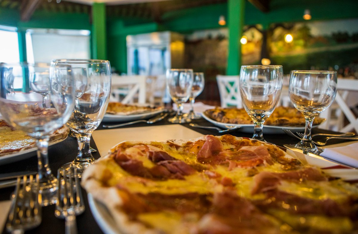 A pizza at the Melia Jagua in Cienfuegos