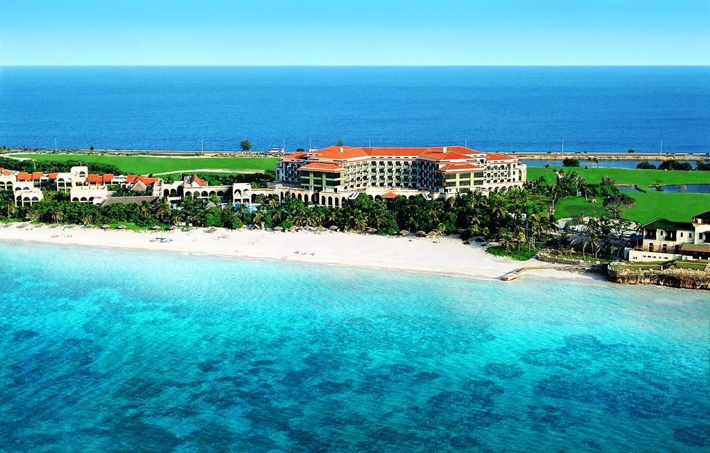 Aerial view of the Melia Las Americas hotel
