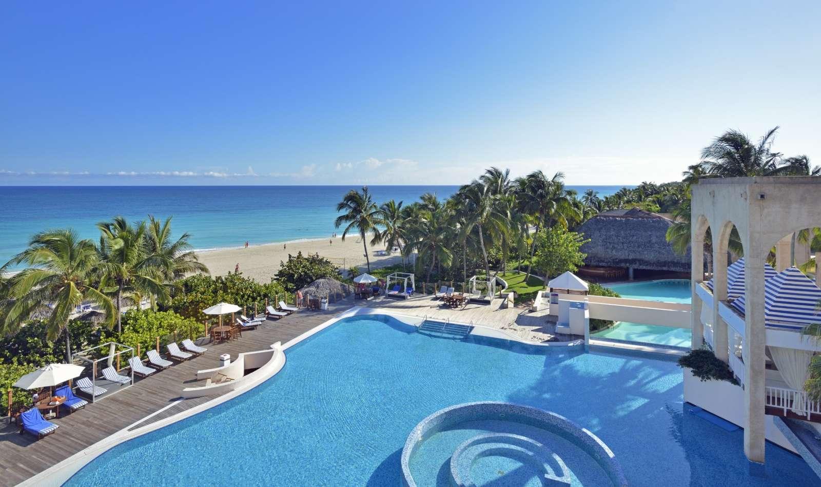 Melia Las Americas pool and beach view