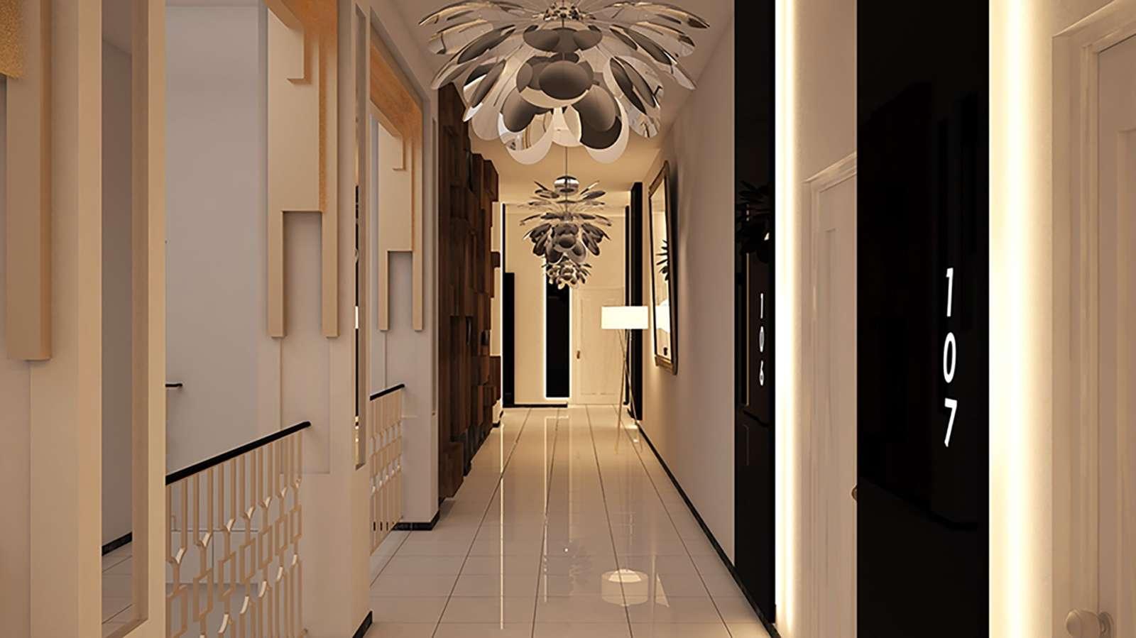 Corridor at Melia San Carlos