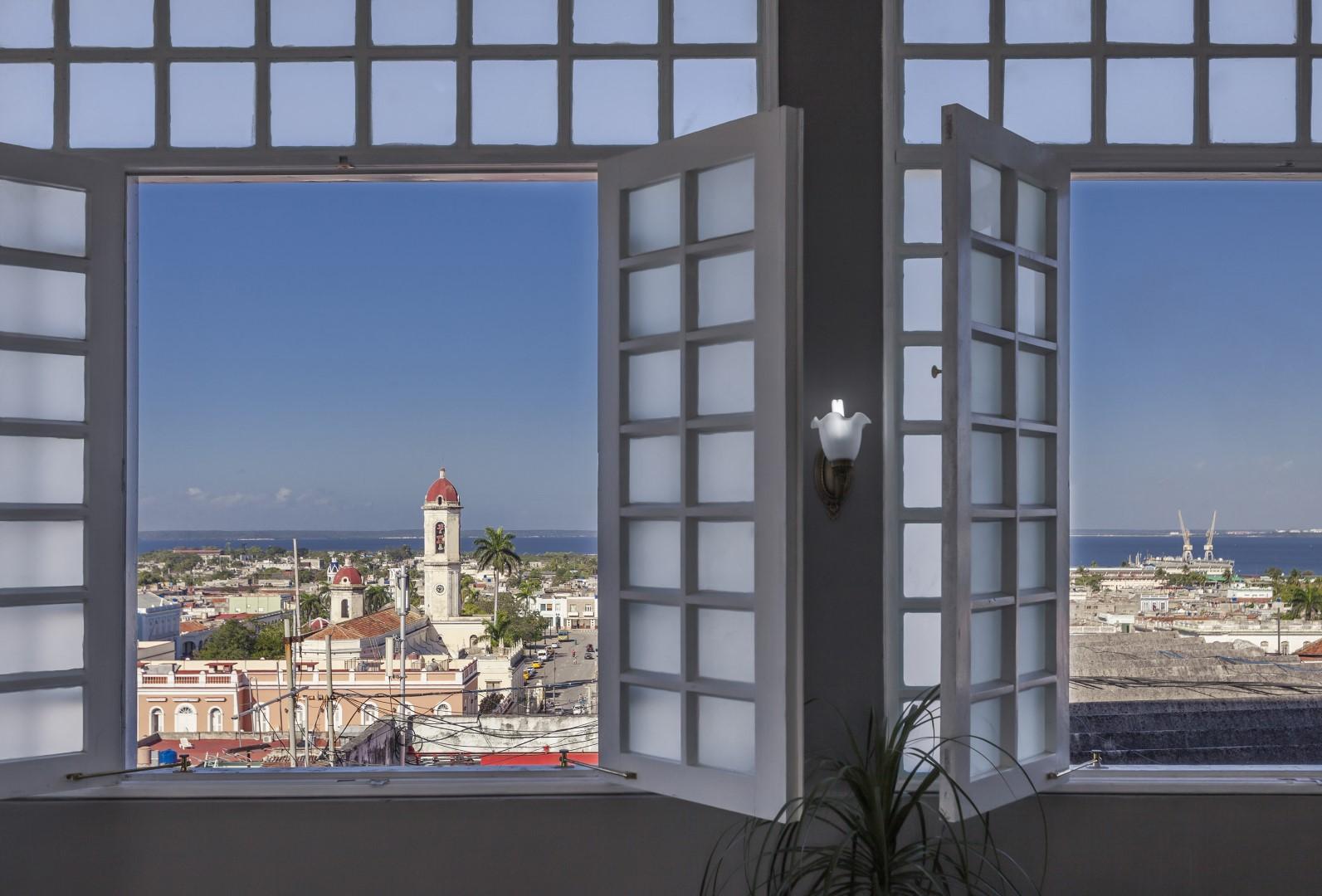 View from rooftop at Melia San Carlos