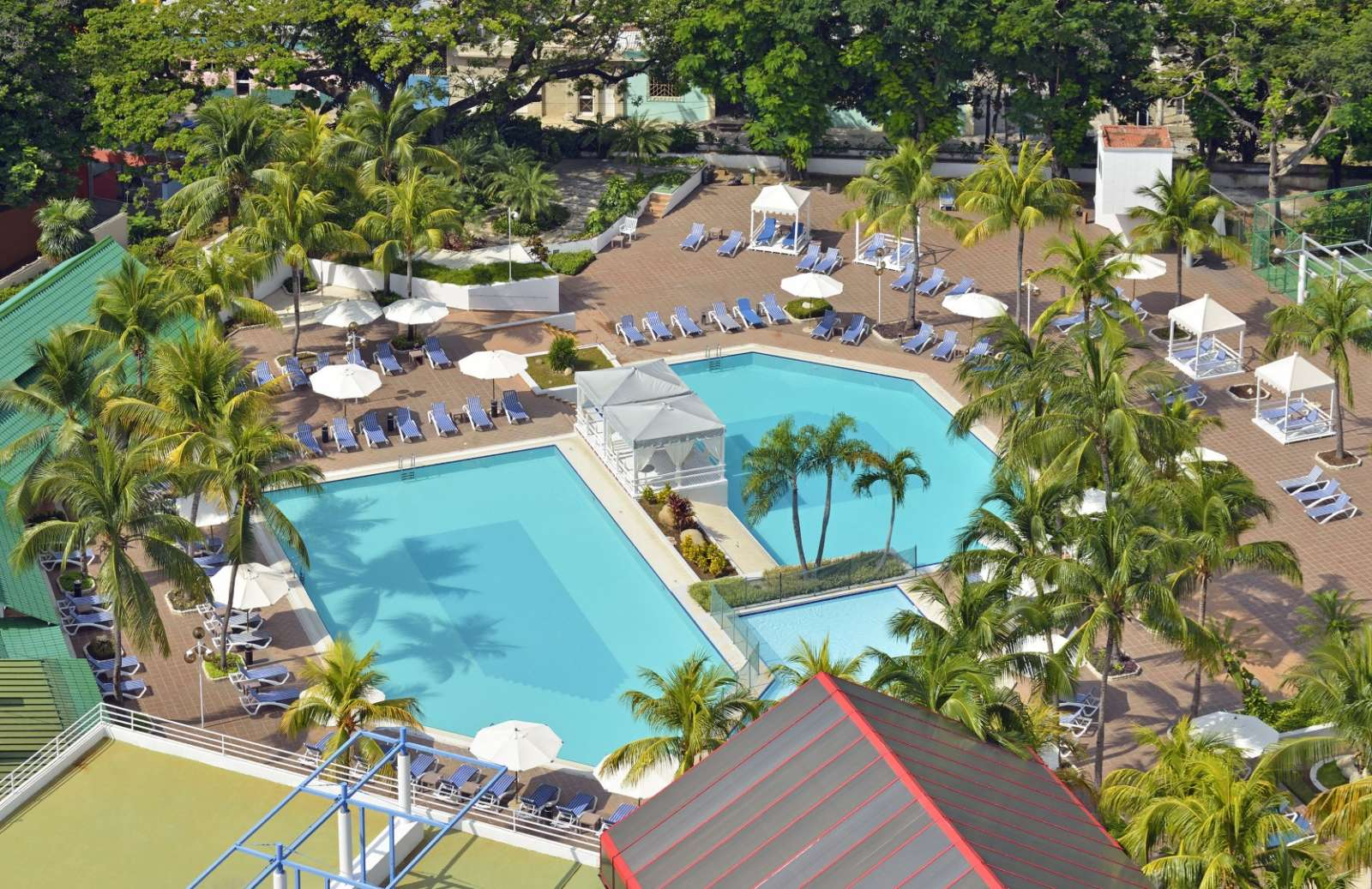 Aerial view of pool area at Melia Santiago
