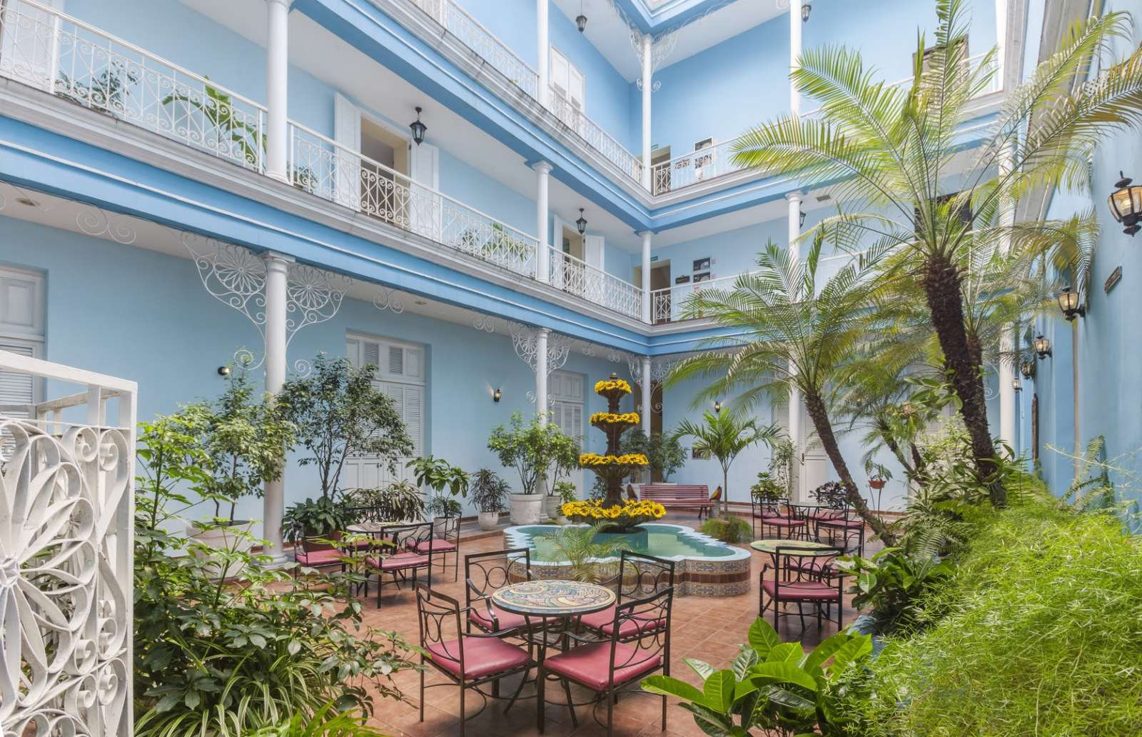 Courtyard at the Melia Union hotel in Cienfuegos