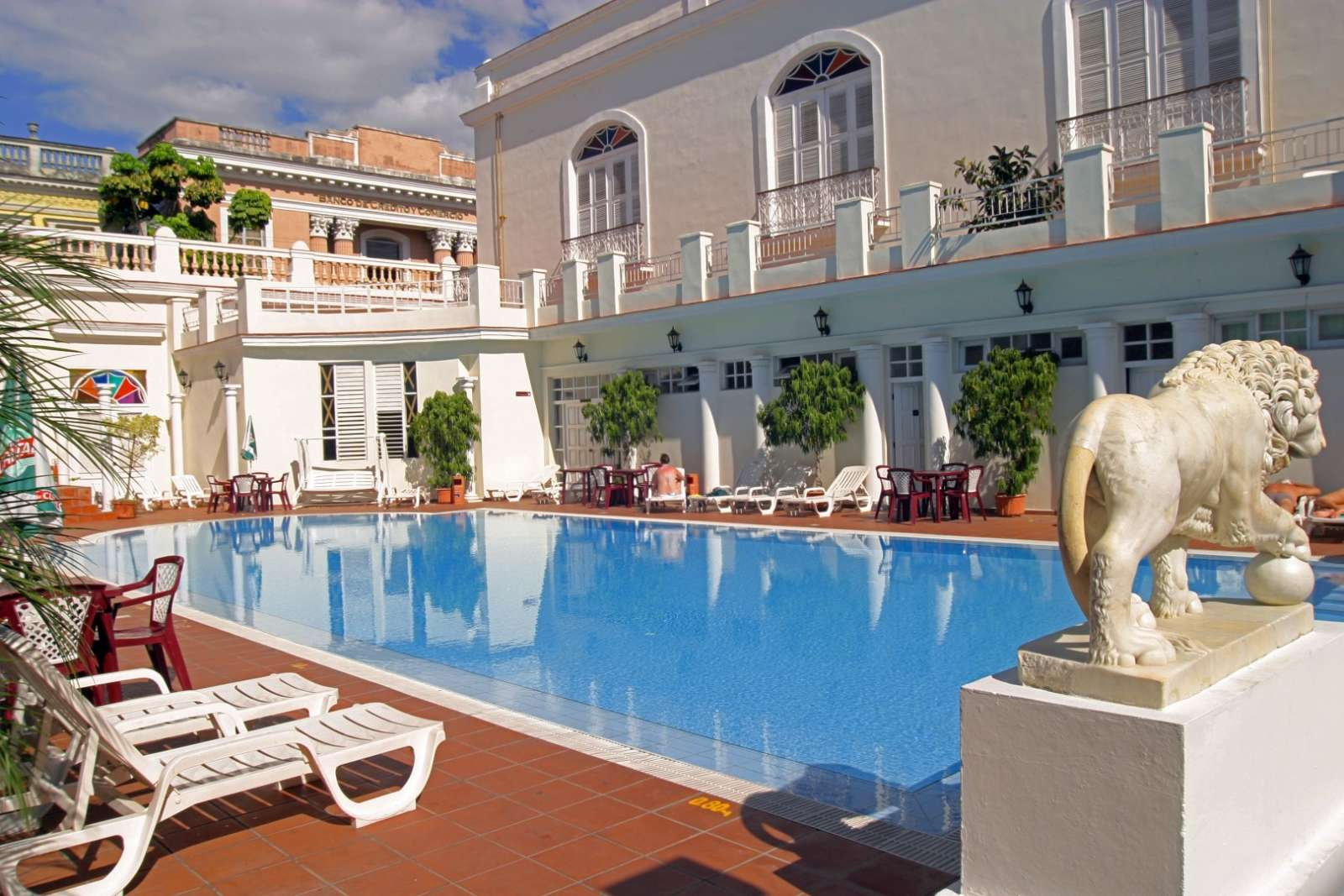 Swimming pool at Melia Union hotel in Cienfuegos