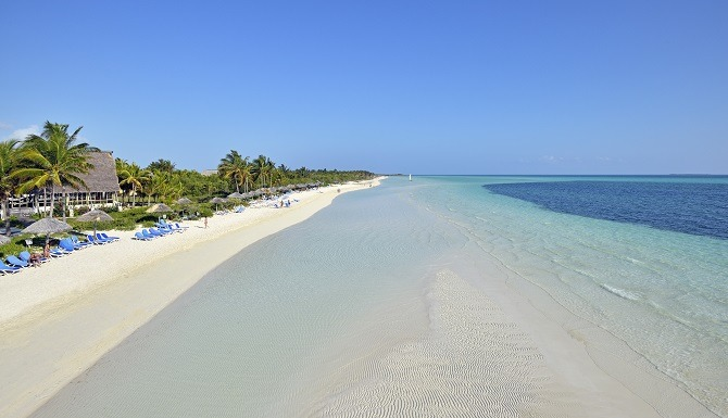 The beach at Melia Cayo Guillermo in Cuba