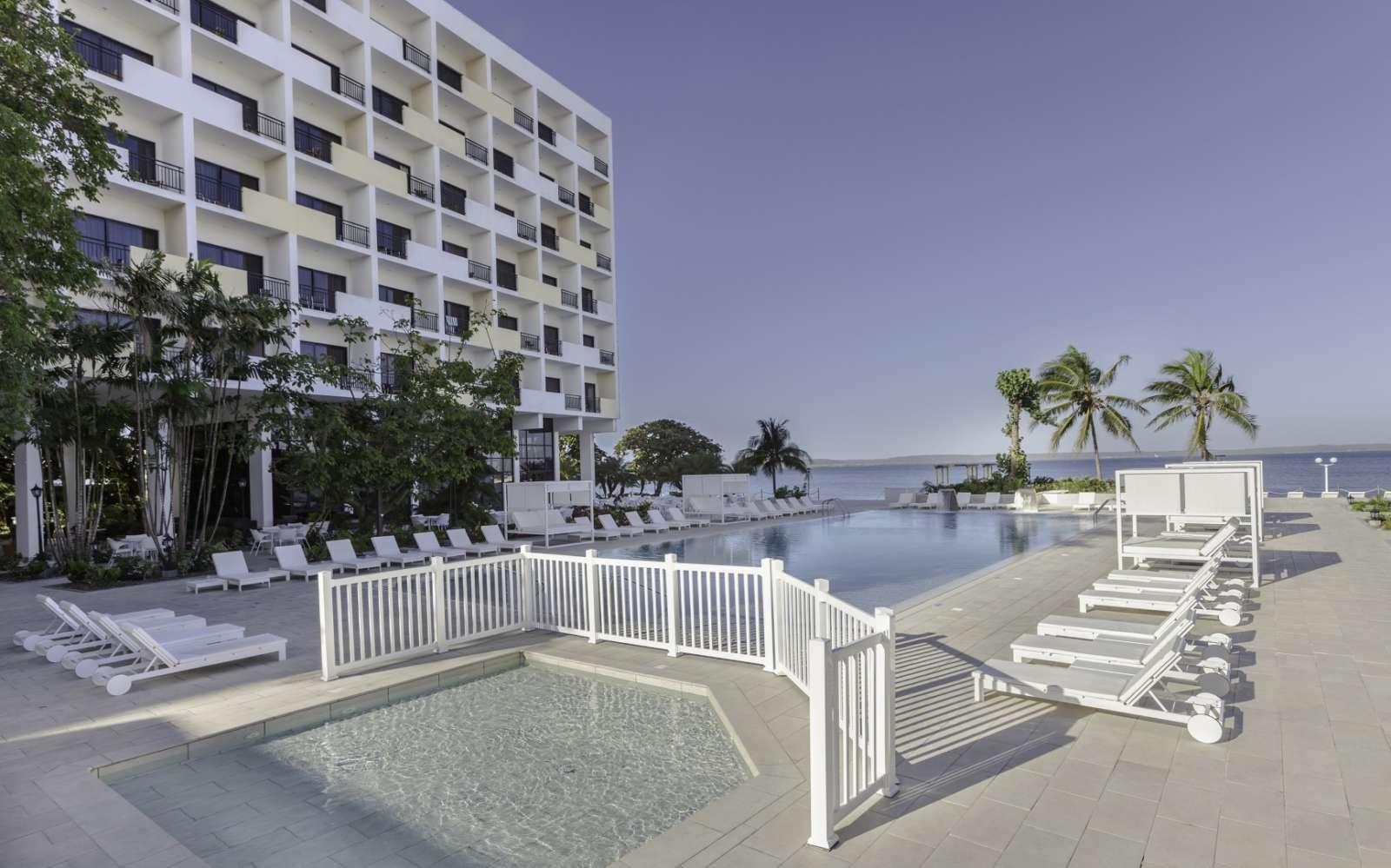 Pool and bay view at Melia Jagua in Cienfuegos