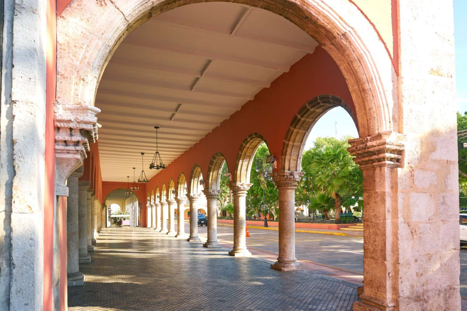 Colonade in Merida, Yucatan