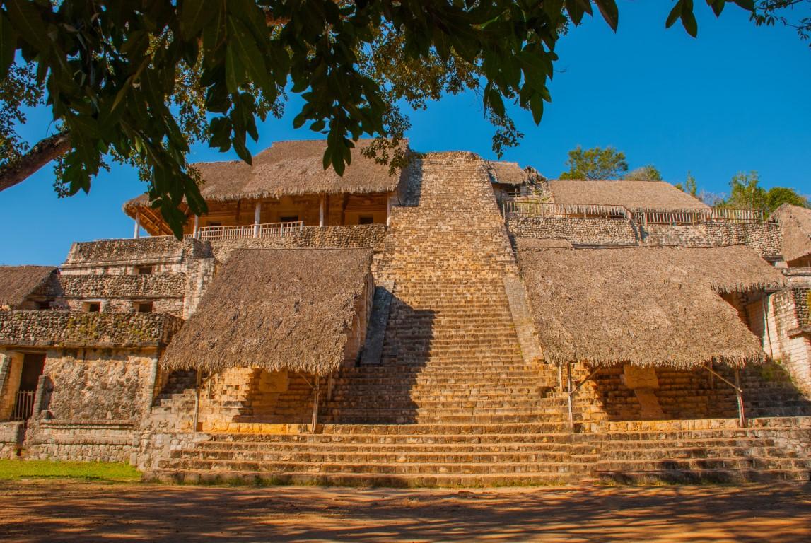 The main pyramid at Ek Balam in Mexico