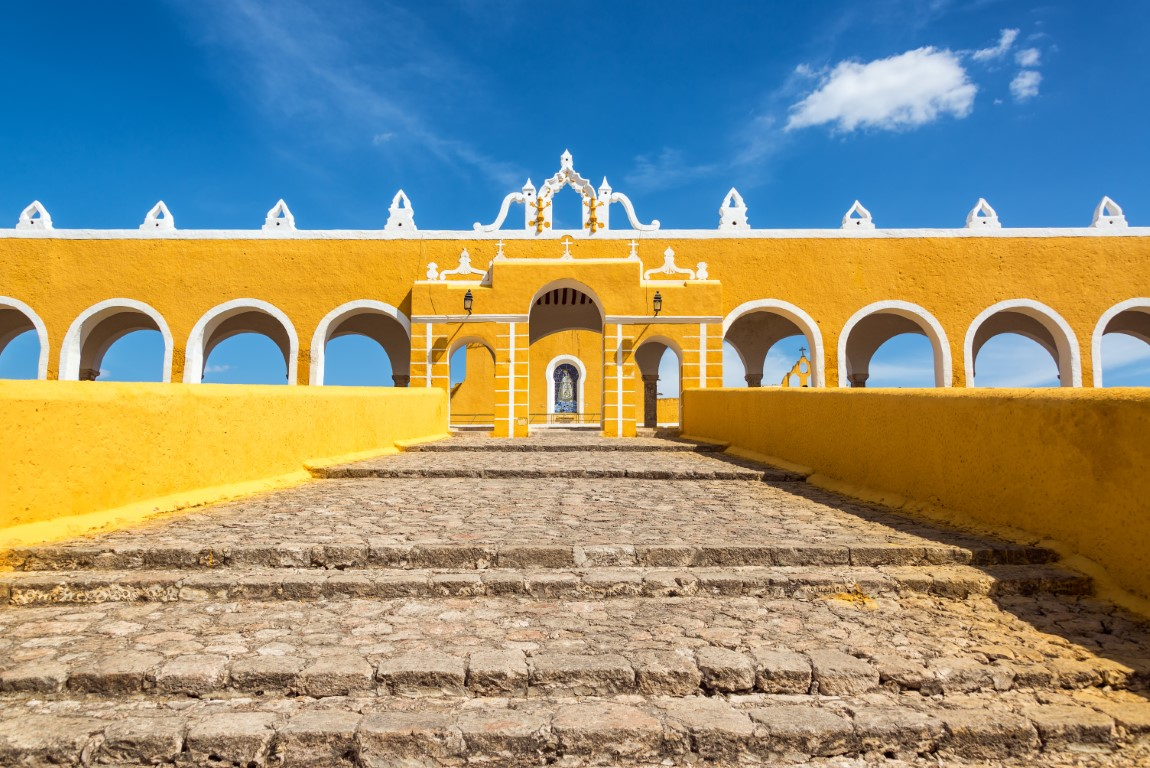 Steps leading to the monastery in Izamal