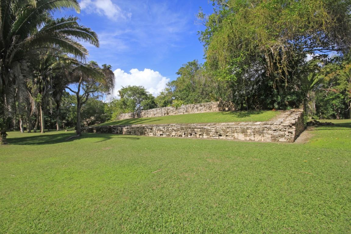 Grassy ruins at Kohunlich