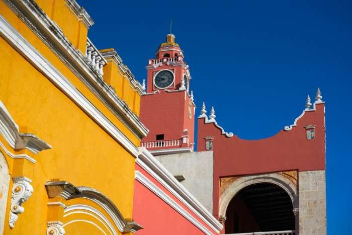 Colonial architecture in Merida, Mexico