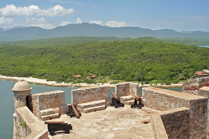 View of the countryside from the Morro Castle in Santiago de Cuba