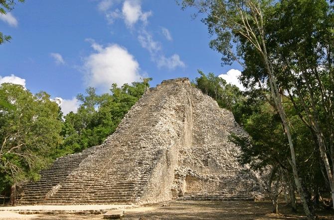 Nohoch Mul pyramid Coba Mexico