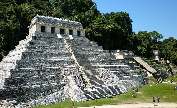 The Mayan ruins of Palenque in Mexico's Chiapas state