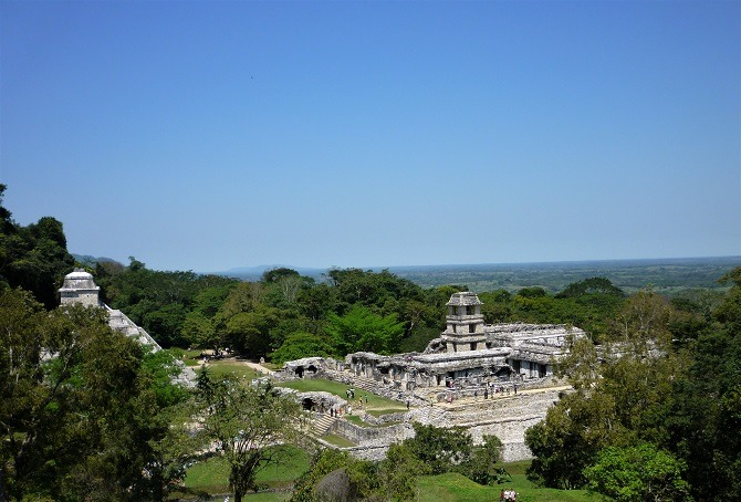 Panoramic view over Palenque