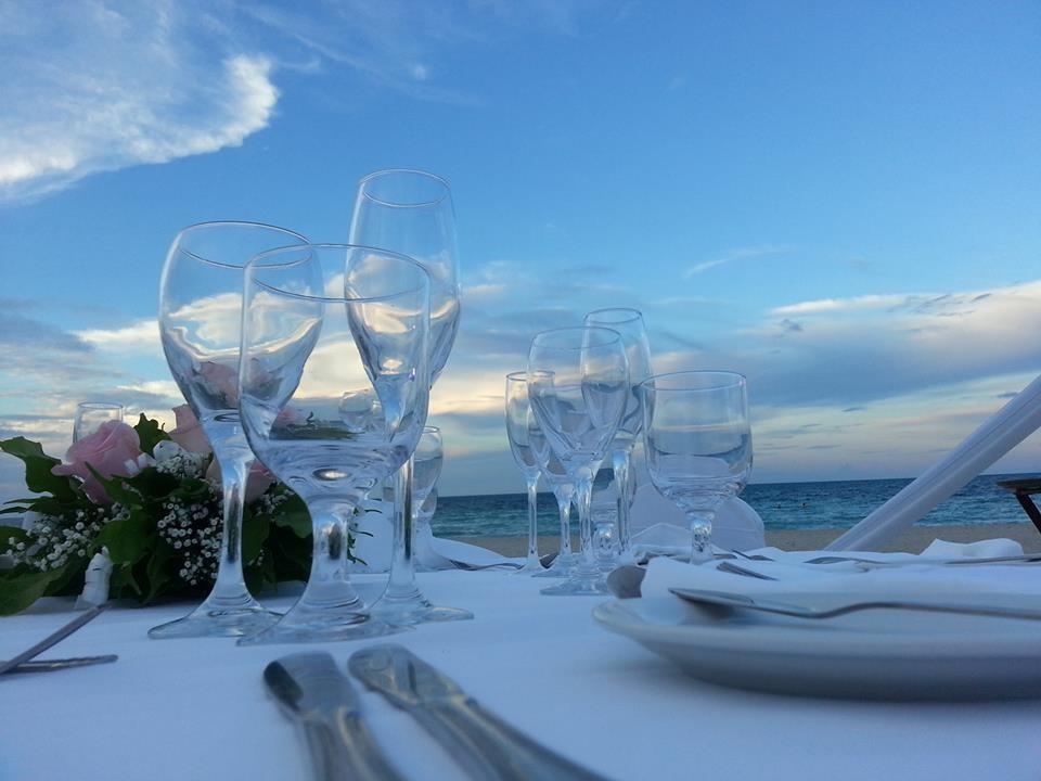 Beach table setting at Paradisus Princesa Varadero