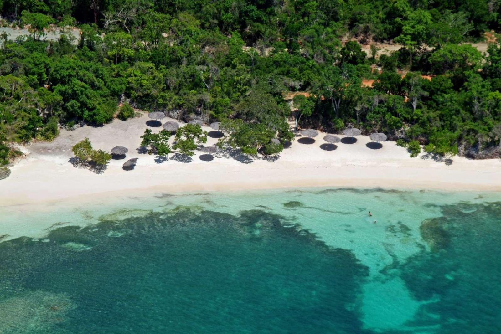 Aerial view of the beach at Paradisus Rio de Oro
