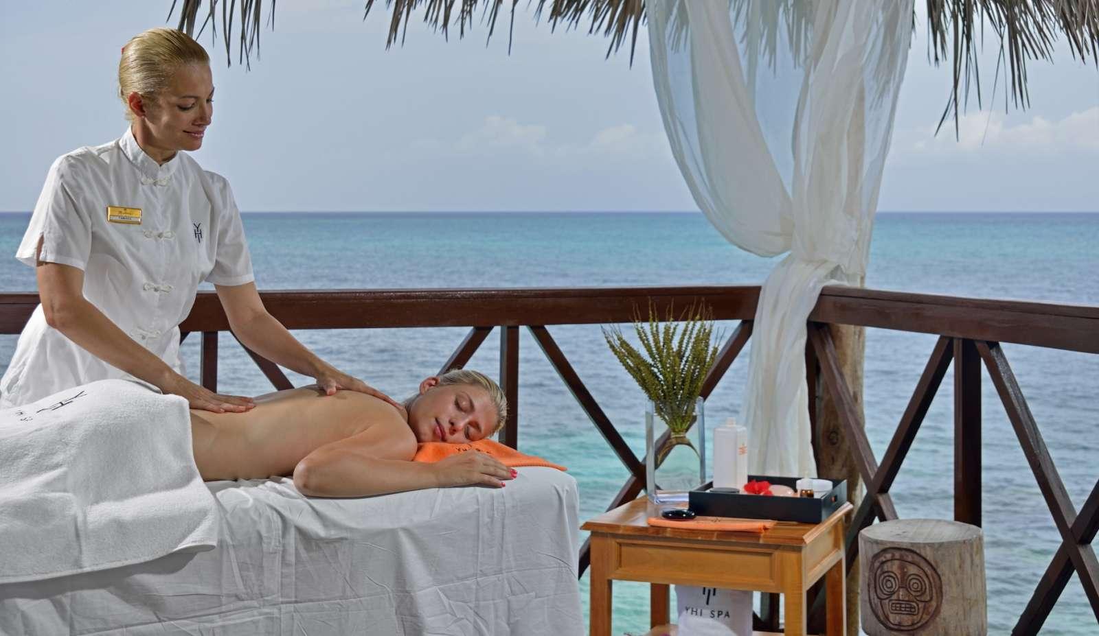 Beach massage at Paradisus Rio de Oro