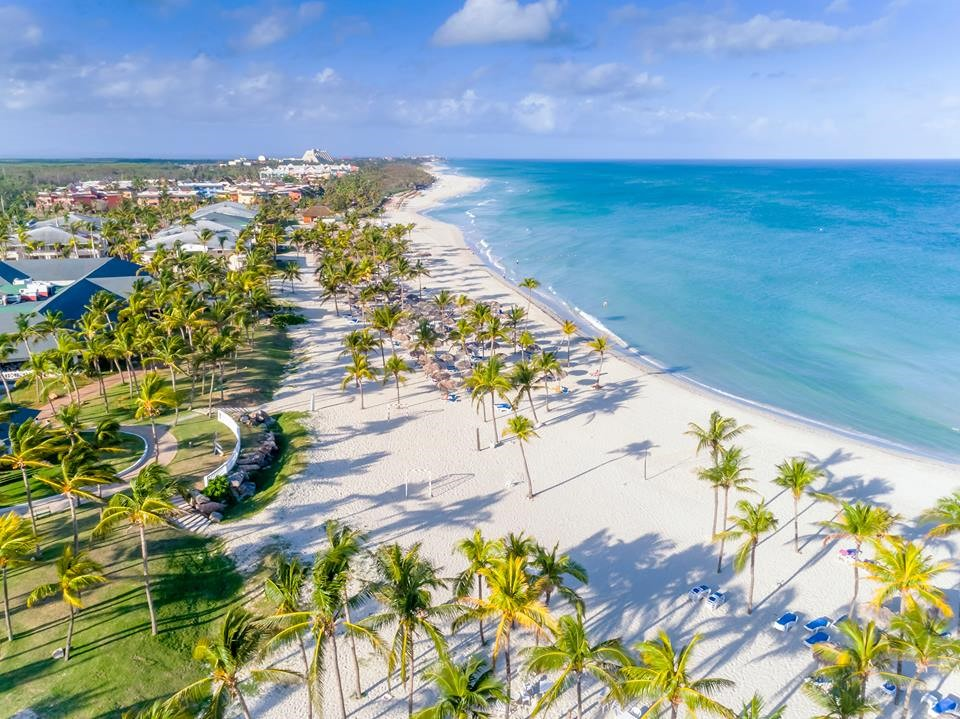 Aerial of beach at Paradisus Varadero