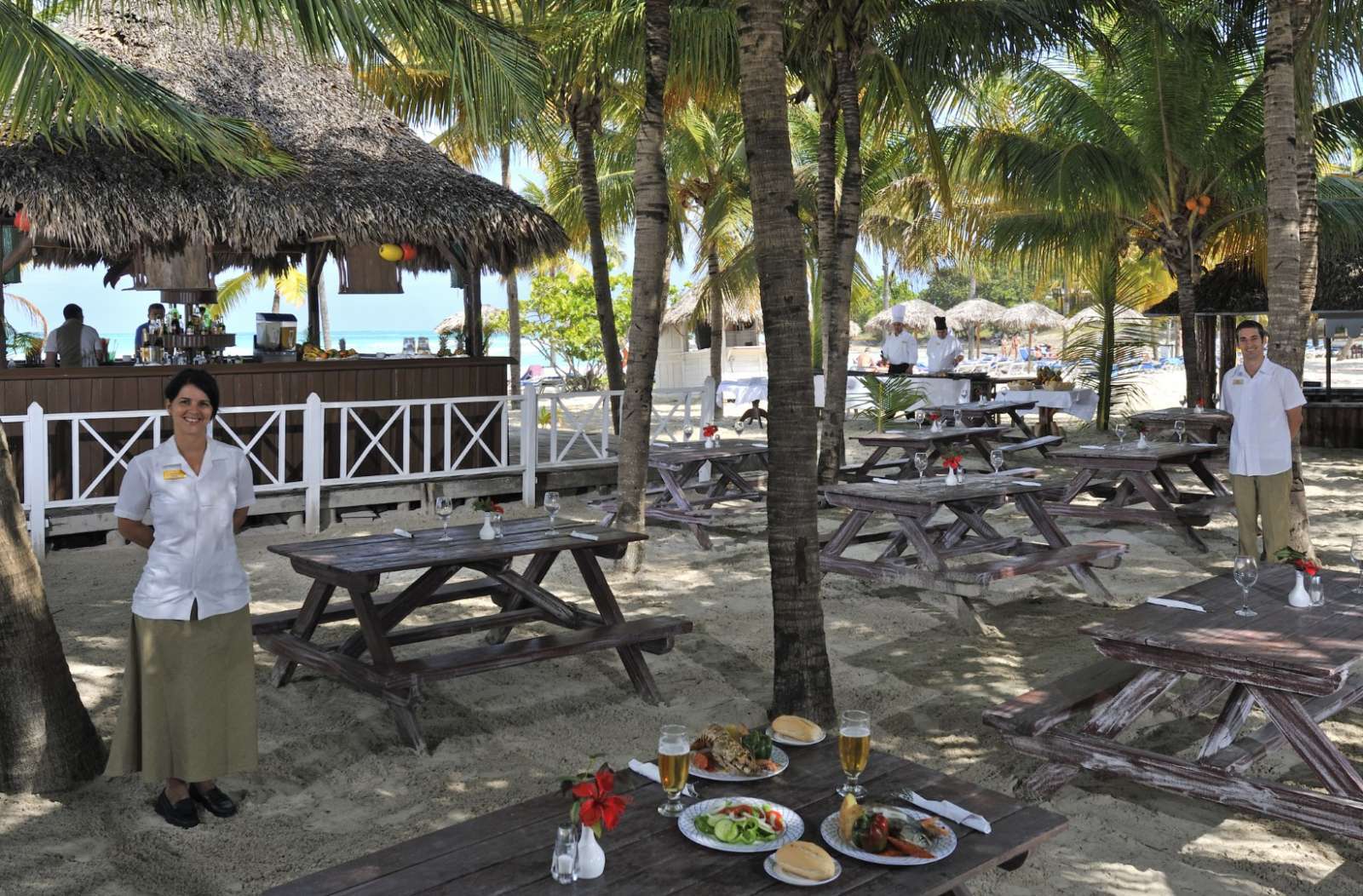 Beach restaurant at Paradisus Varadero