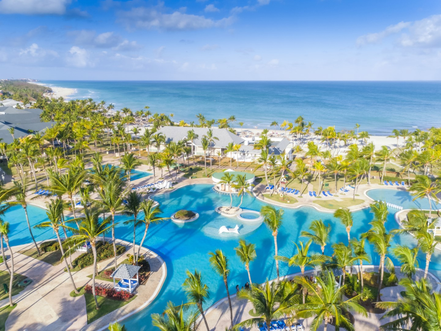 Aerial view of pool and beach at Paradisus Varadero