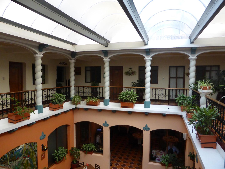 Atrium at Pension Bonifaz in Quetzaltenango