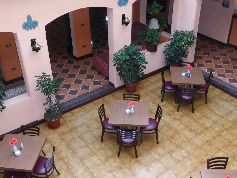 Cafe at Pension Bonifaz in Quetzaltenango